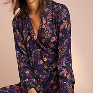 Anthro Floreat Parker wrap sleep shirt xs